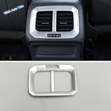 Lapetus Car Styling Armrest Box Rear Air Conditioning AC Vent Outlet Cover Trim ABS Fit For Volkswagen VW Tiguan MK2 2016 - 2019 lapetus car styling upper roof air conditioning ac vent outlet cover trim abs fit for toyota alphard vellfire ah30 2016 2019