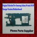 100% bom trabalho europa versão desbloqueado originais motherboard mainboard para samsung galaxy s4 mini i9195 com chips navio livre