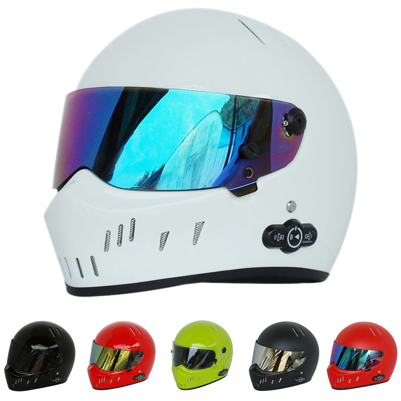 Universal Motorcycle Star Wars <font><b>helmet</b></font> Full Face ATV Motorcross Monster Bluetooth Headset bubble Downhill Crash kask Casque Skull