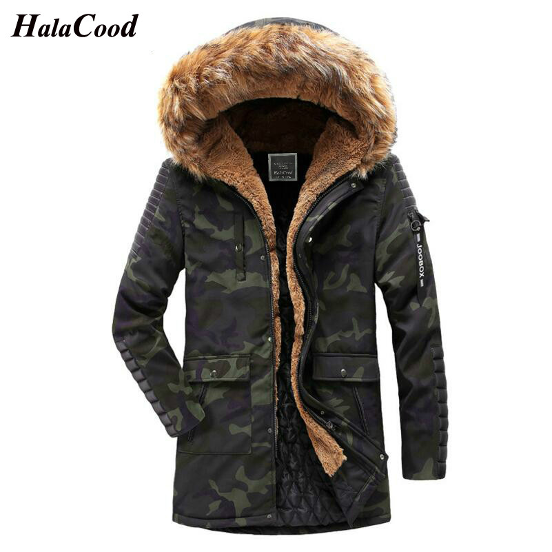 HALACOOD Military 2018 Fashion Winter New Jacket Men Warm Coat Camouflage Casual   Parka   Medium-Long Thickening Coat Men Winter