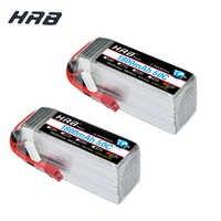 2 pièces HRB 1800mAh Lipo 6S 22.2V batterie 50C Max 100C XT60 T DEAN pour SAB380 aligner 470 ALZRC Devil 380 480 RC hélicoptère bateau voiture