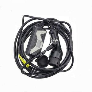 Image 2 - Elektrikli araç EVSE araba şarjı Nissan Leaf için Ford için tip 2 elektrikli araç şarjı Schuko fiş chademo 20A IEC 62196 2