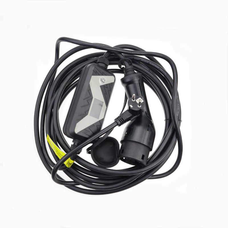 Veículo elétrico evse carregador de carro para nissan leaf para ford tipo 2 ev carregador schuko plug chavemo 20a iec 62196 2