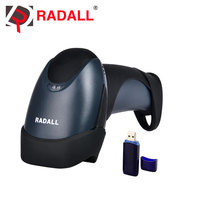 RD-M2 Tragbare Laser Wireless Barcode Scanner Reader USB 1D 32Bit 433 MHz 256KB Flash Memory 3000 Barcodes für Windows/Linux