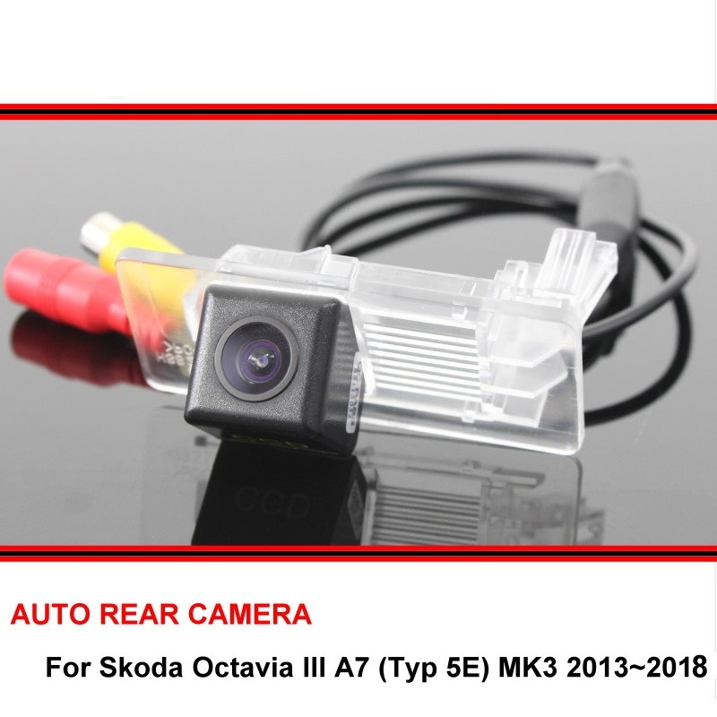 For Skoda Octavia III A7 Typ 5E MK3 2013~2018 Reversing Camera HD CCD Night Vision Back Up Camera Car Parking Camera Trasera
