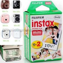 100% Оригинал 20 шт. Fujifilm Fuji Instax Mini Мгновенный Фильм Белый Край для 7 7 s 8 10 20 25 50 s 50i SP1 dw Мини Мгновенный камера