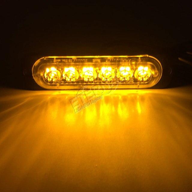 2pcs super slim 4.3inch 12W amber LED strobe emergency
