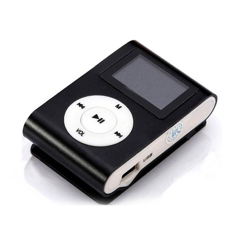Metal Mini LCD Screen Clip Sport MP3 Player Digital Media Music Player Support 32GB Externa Micro SD TF Card