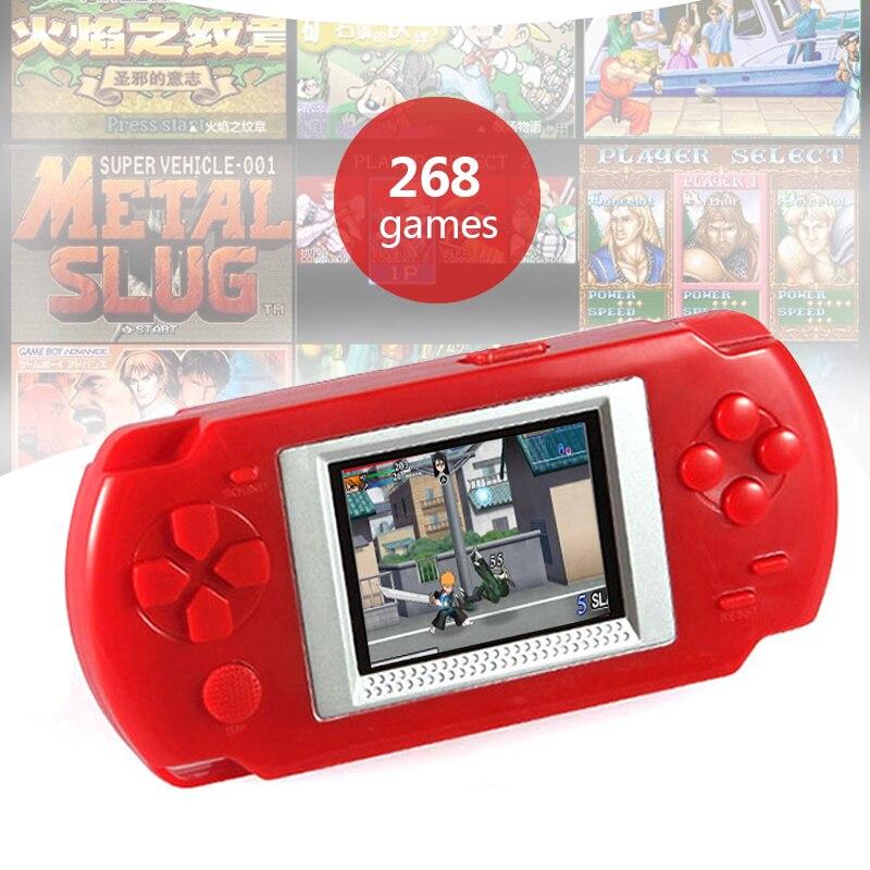 Ultra-dünne Tragbare 2,0 farbe Bildschirm Video Spiele Konsolen 268-in-1 Klassische Spiele Handheld Spiel Player Kinder Puzzle Spiele Diversifiziert In Der Verpackung Portable Spielkonsolen