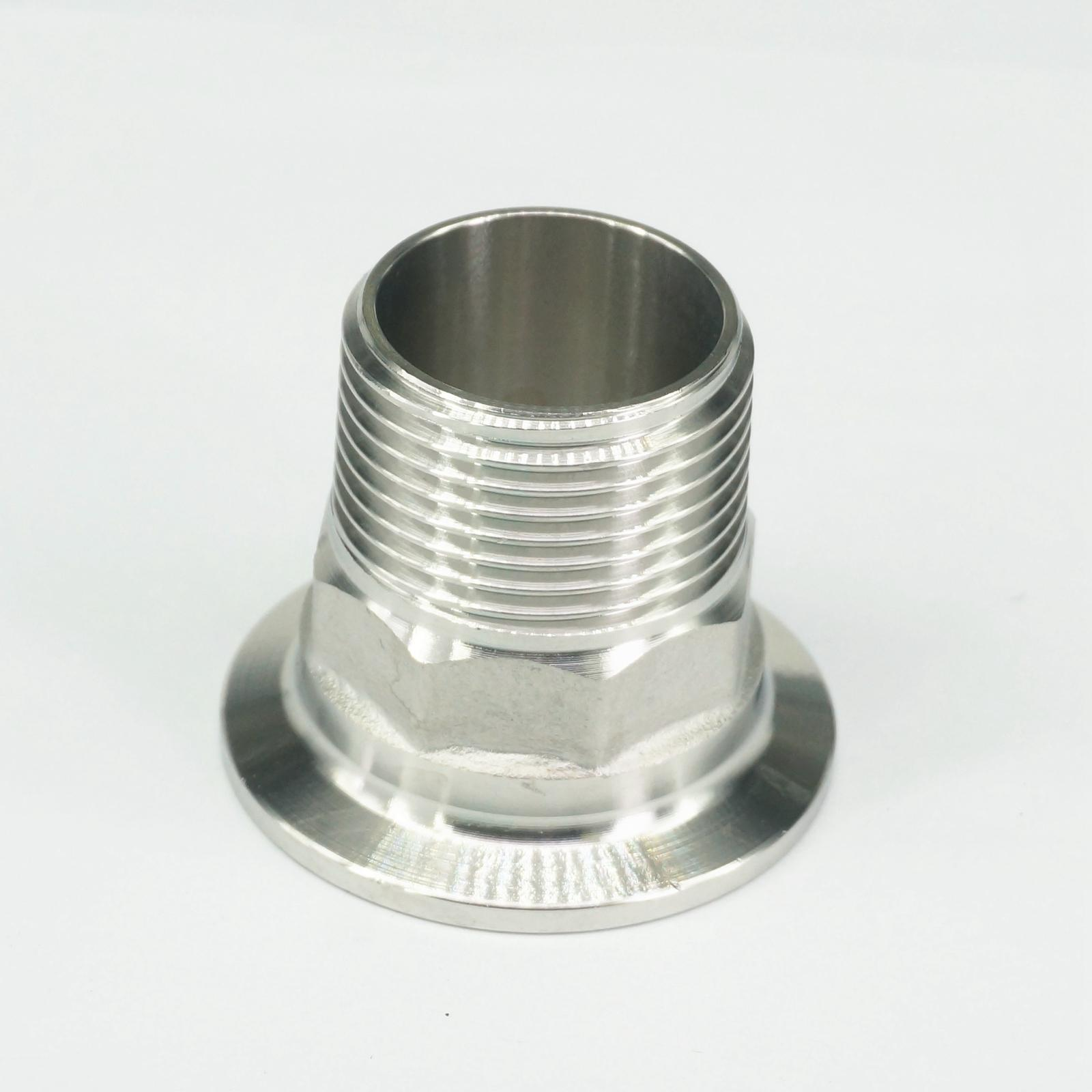 1 BSP Male x 1.5 Tri Clamp 304 Stainless Steel Pipe Fitting Connector For Homebrew with Hex nut 1pc stainless steel ss304 male x male threaded pipe fitting 200mm bsp 1 4 1 2 3 4 1