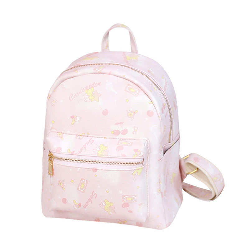 Anime Card Captor Sakura The Clow Kero Backpack Girls Shoulder Bag Pink Cute Travelling Bag anime card captor sakura the clow kero backpack girls shoulder bag pink cute travelling bag