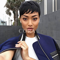 100% Brazilian full lace hair wig Human Full Lace Front Bob hair None Lace Wig Short human Pixie Cut hair wig For Black Women