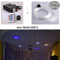 DIY 16w RGB Color fiber Optical Starry Sky Star Ceiling Light For Home Cinema Decoration