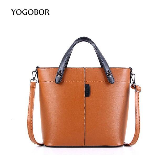 28cf90316ad0 Hot Sale Women PU Leather Handbags for Woman Fashion Designer Bucket Tote  Shoulder Bags Black Brown Red Gray Women Messenger Bag