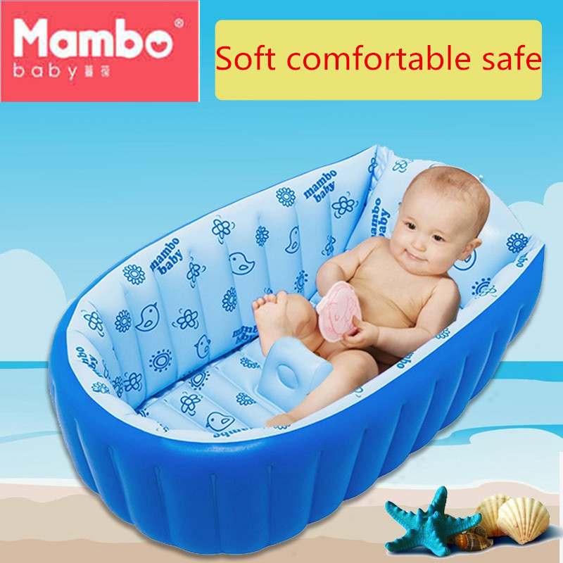 Baby Bath Kids Bathtub Portable Inflatable keep warm  Foot air pump Thickening Washbowl Bebe Bath Tub for Newborns Swimming Pool commercial sea inflatable blue water slide with pool and arch for kids