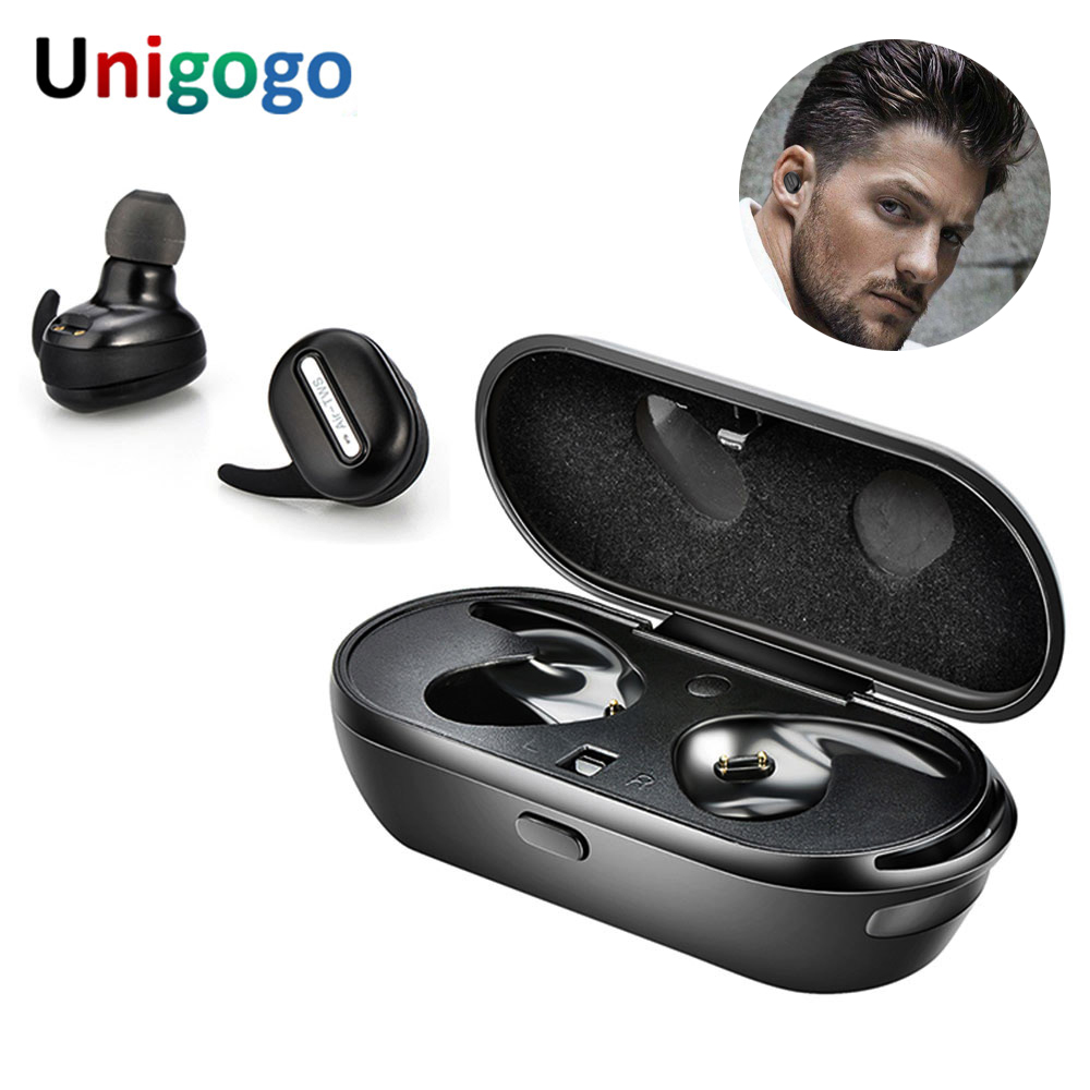 True TWS Wireless Headphones Stereo Bluetooth Earbuds handsfree In Ear Cordless Earphone with Mic for Iphone X 7 Plus 6S Xiaomi