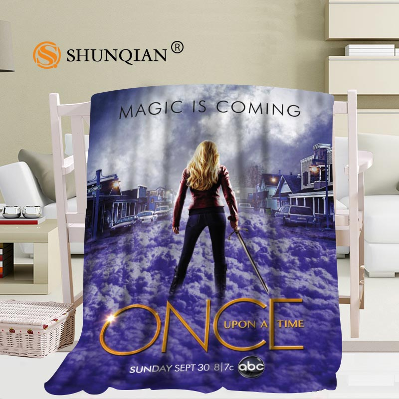 #JQK333J Custom once upon a time Pattern Travel Blanket Home TV Casual Relax for Family Soft Fluffy Warm Blanket