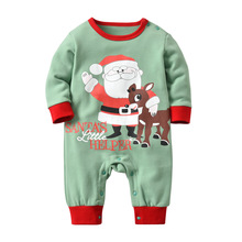 Newborn Christmas Clothes 2018 Winter Cotton Outfit Santa Claus Deer Green Little Helper Baby Costumes