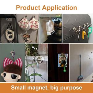 Image 5 - 750 pieces Heavy Duty Magnetic Hooks, Strong Neodymium  Magnet Hook for Home, ,D20mm Hold up to 26Pounds,