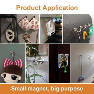 Image 5 - Ağır manyetik kanca, güçlü neodimiyum mıknatıslar kanca, mutfak, İşyeri, vb, d32mm tutun 80 pound, 6lı paket