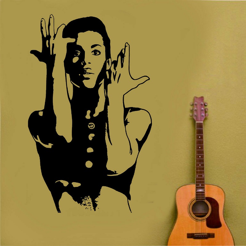Prince decal when Doves Cry cele urban pop singer Wall Art Sticker poster home bedroom art design decoration 2YY42-in Wall Stickers from Home & Garden