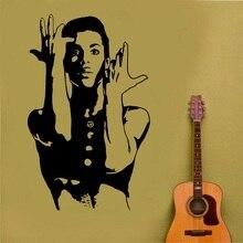 Principe della decalcomania quando Doves Cry cele urban pop cantante Autoadesivo Della Parete di Arte poster camera da letto a casa di arte di disegno della decorazione 2YY42
