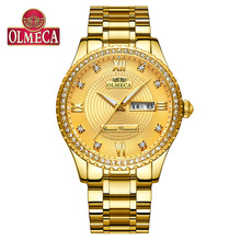 OLMECA Men's Watch Waterproof Calendar Luminous Diamond High-grade Business Quartz Watch