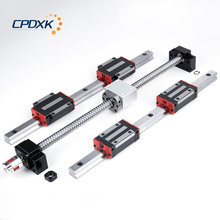 купить HB20 linear guide for cnc 6 set HB20 -400/700/1000mm+ ball screw SFU1605 + BK12 BF12 + ball nut housing for CNC parts по цене 14814.09 рублей
