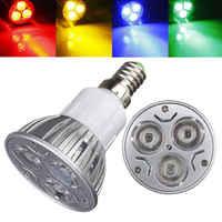10 ピース/ロットビッグプロモーション E14 3 LED エネルギー保存スポットライトダウン光器電球 DC12V 赤/黄色/ ブルー/グリーン