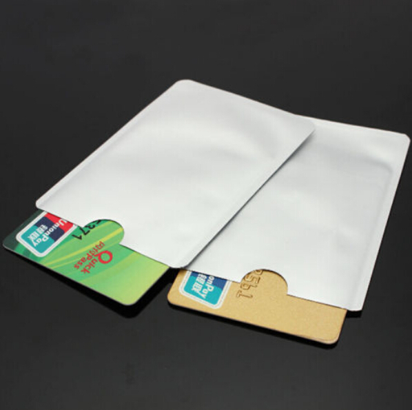10Pcs Secure ID Card Anti RFID Metal Credit Card Holder Case Foil Shield Blocking Protector Aluminium Sleeve Card Set Blank
