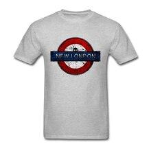 New London Retro Logo Men's Shirt Short Sleeve Custom New Style Hip Hop Streetwear 3XL Cotton Doctor Who Science TV Men's Shirts