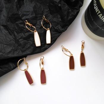 Geometry retro circle pendant earrings jewelry fashion woman earrings Statement earring for Girls gift for woman 2