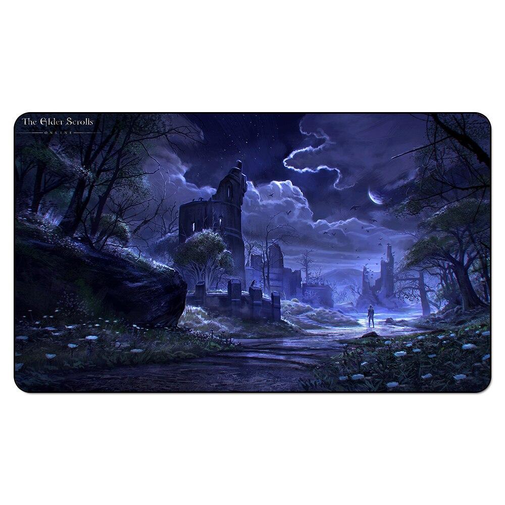 (Elder Scrolls Online Concept Playmat) Custom Playmat Board Games Geek Game Pad Chinese Jungle Table Pad Playmat Sleeves 35X60CM