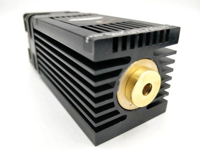 משלוח חינם גבוהה Powe אמיתי 10 W 10000 mw 445nm 450nm focusable 405nm מודול לייזר חרט חלק DIY לייזר ראש withPWM/TTL