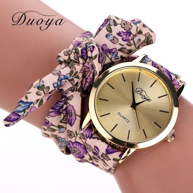Zegarek Kobiecy Duoya wiązany różne kolory