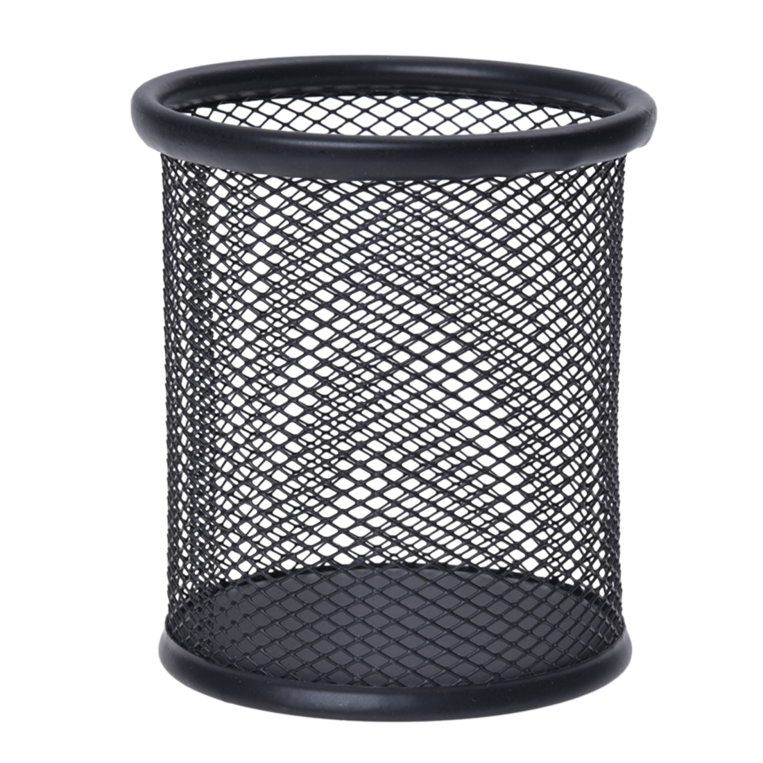 Steel Mesh Pencil Cup Storage Box Metal Desk Pen Pencil Organiser Cup Holder Office School Supplies