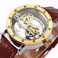 SHENHUA Mens Watches Top Brand Luxury Golden Case Mechanical Wristwatch Men Automatic Male Watch relogio masculino de luxo