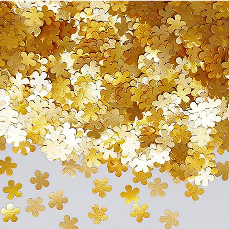 Gold Flower Glitter Edible Sprinkles,1g(2000pcs),Pretty Shinny Glitter, Fondant Pigment Cake Decorating Tools,Free Shipping