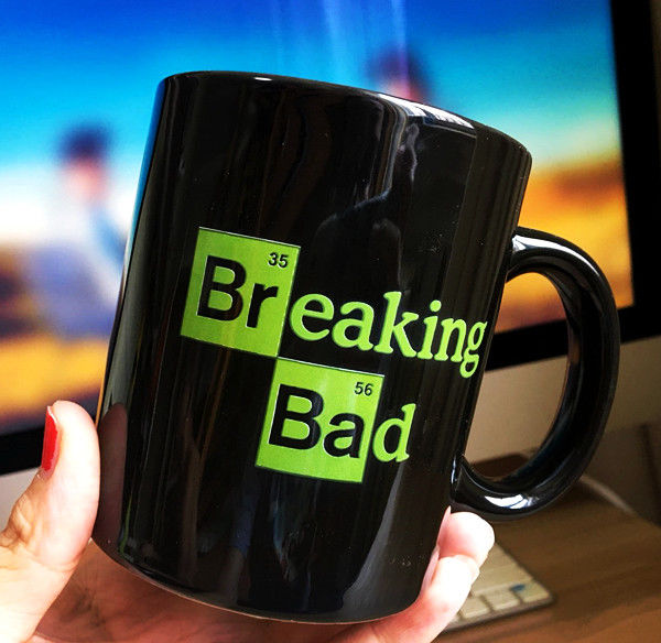TV Series Breaking Bad Black Mug Black / White Ceramic Coffee Tea Milk Cup Comic Mugs Home Decor Collectible Cups Christmas Gift