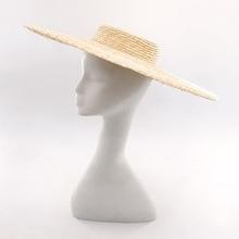 Muchique Wide Brim Boater Hats Fine Straw Summer Beach Sun Hats X-Large Vintage Women Hats Top Quality