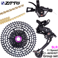 ZTTO 1*11 Speed MTB Shifter Mountain Bike Bicycle rear Derailleur Hanger Extension 46/50/52T SLR Cassette and Chain Group Set