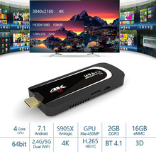 H96 Pro H3 4 K TV Stick Android 7.1 2 GB 16 GB Amlogic S905X Quad Core 2.4G+5GHz Dual Wifi BT4.0 1080 P H.265 4K 60pfs TV Dongle цена 2017