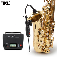 TKL OK727r Wireless Dedicated Musical Instruments Saxophone Microphone System Use for Violin Guitar Bass microphone for saxophone violin erhu flute gourd and other musical instruments 4 kinds of plugs for choose without power
