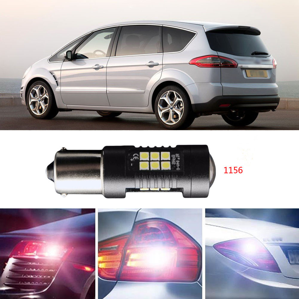 Ownsun 2Pcs Error Free LED Reversing 1156 Back-Up Reverse Light Bulbs Fit For Ford S-max