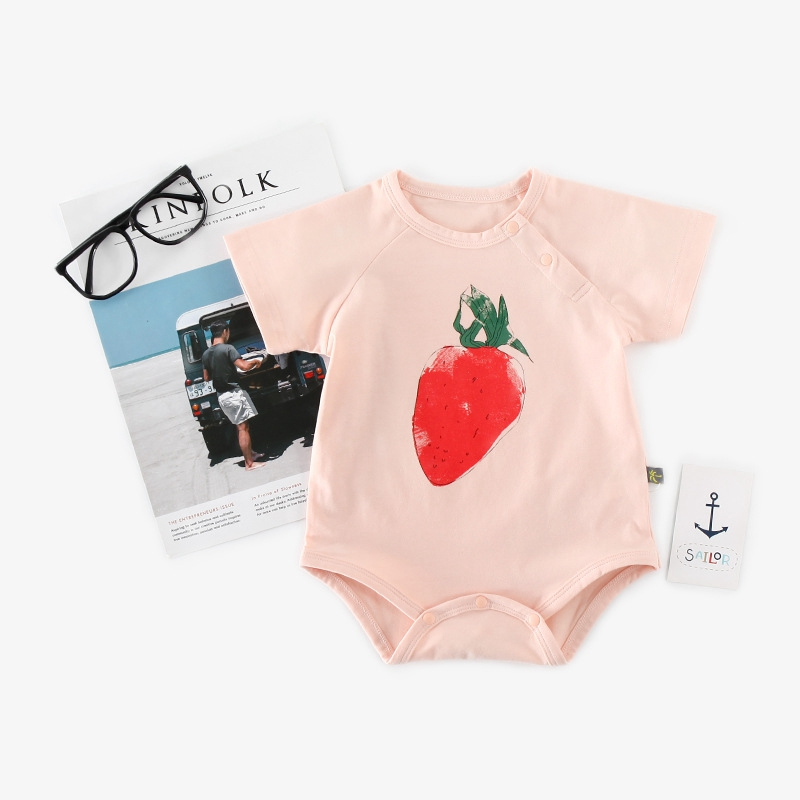 c3b9e1f3a0a2 Dropwow Infant Baby Girl Stylish Bodysuit Summer Fruit Print ...