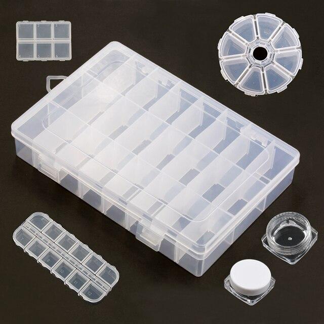 Pratico di immagazzinaggio di monili di Plastica Regolabile Vano Scatola di Imma