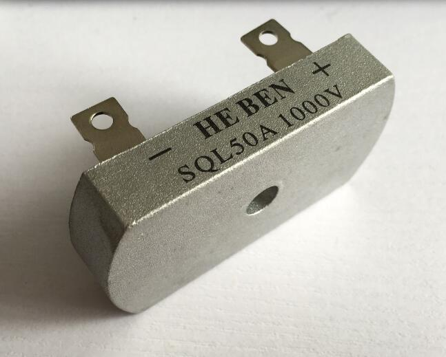5pcs three-phase rectifier bridge rectifier <font><b>SQL50A</b></font> <font><b>1000V</b></font> Metal Case Bridge Rectifier 32*60mm image