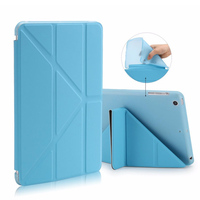Smart Flip Case For IPad Air 1 Leather Stand Cover Transparent Soft Silicone TPU Case For
