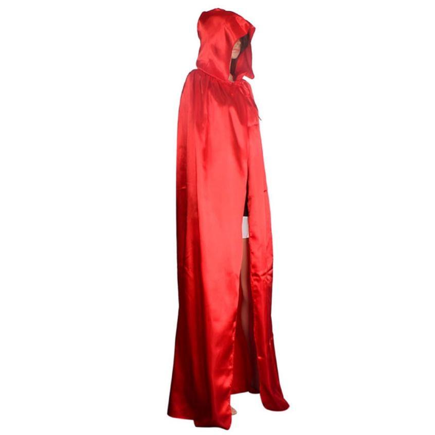 Keren Wanita Unisex Mantel Berkerudung Jubah Mantel Wicca Robe - Kostum - Foto 4