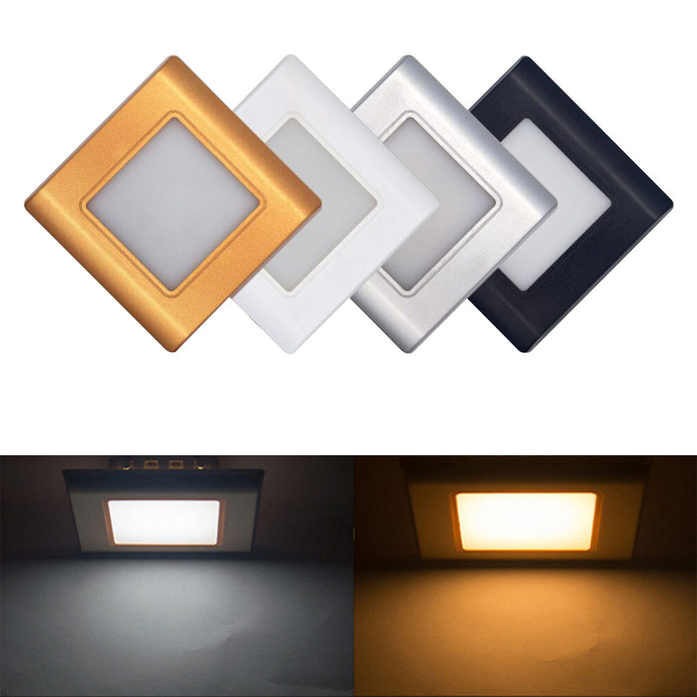 LED Stair Light Recessed wall foot light led Step Lamp stairway light Corridor safety night light with 86 mounting box 220V